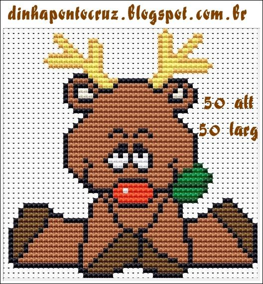 Christmas Baby Rudolph pattern by Dinha Ponto Cruz