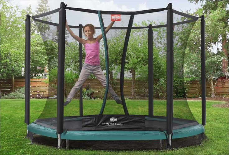 Petit trampoline enterré Berg 2m40 + filet de protection
