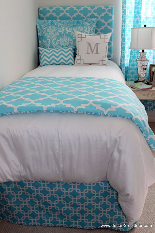 Designer Dorm Room Bedding Beautiful Bags And Teal Bed