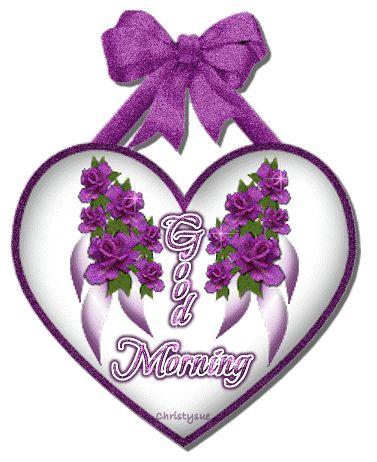 good morning animated glitter graphics | Glitter Text » Greetings » Good morning heart