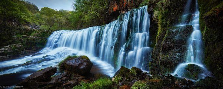 Upper Sgwd Isaf Clun-Gwyn Waterfall... Part of the Brecon Beacons 4 waterfalls walk.