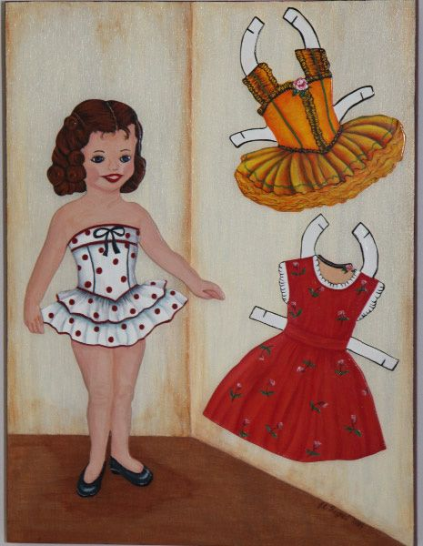 Dolly Diva's new clothes that I painted