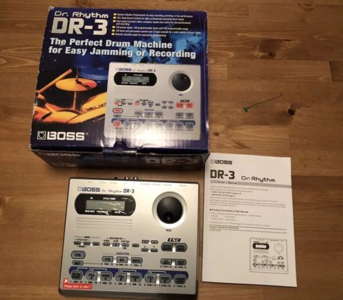 Roland Boss DR-3 Programmable Drum Machine And Bass Synth W/ Manual