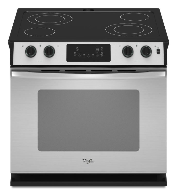 """Whirlpool WDE350LV 30"""" Drop-In 4.5 Cu. Ft. Electric Range with AccuBake® Stainless Steel Ranges Drop In Electric"""
