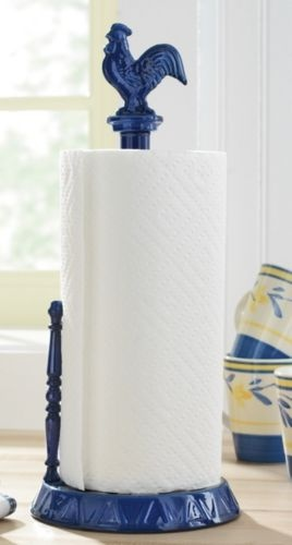 rooster paper towel holder