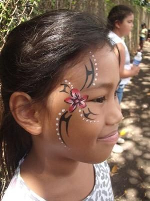 Tribal design: Hawaii, USA Face Painting Hawaii one Luau at a time!  Professional Face Painter & Body Art Artist  * Master Balloon Twister * The Most Spectacular Temporary