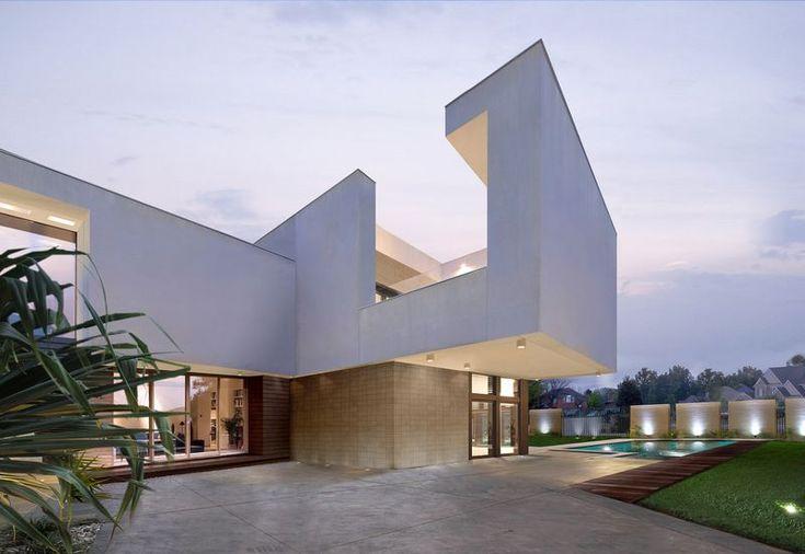 Magnifique villa contemporaine base de mat riaux recycl s los angeles modern design house - Maison modulaire espagnole ...