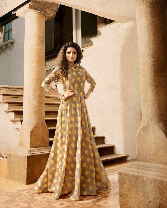 d84e2da54f Nitya Drashti Dhami Floor Length Rayon Kurti Size : M,L,XL | Nitya ...