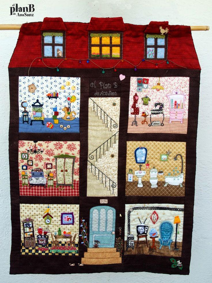 13 best dollhouse quilts images on pinterest dollhouse - Casas de patchwork ...