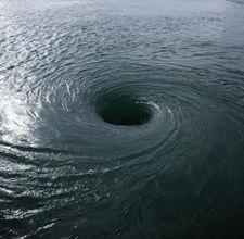 an ocean whirlpool