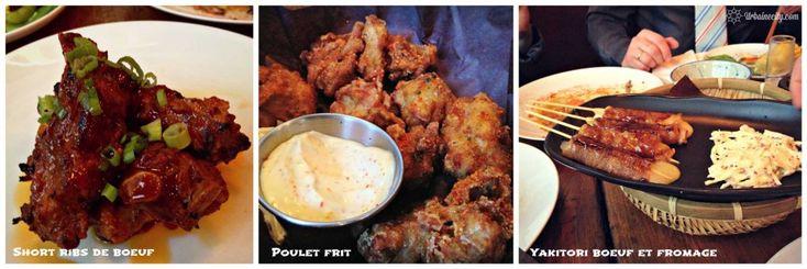 Ribs, poulet frit et batonnet de fromage - Biiru Montréal