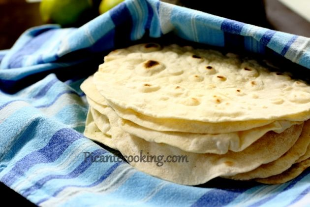 Мексиканские пшеничные тортильяс (Tortillas de trigo)