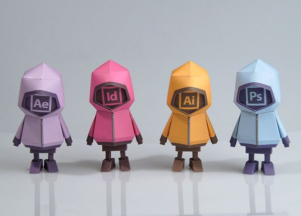 [ ADOBE TOOLS ] Paper toy of Boogiehood on Behance