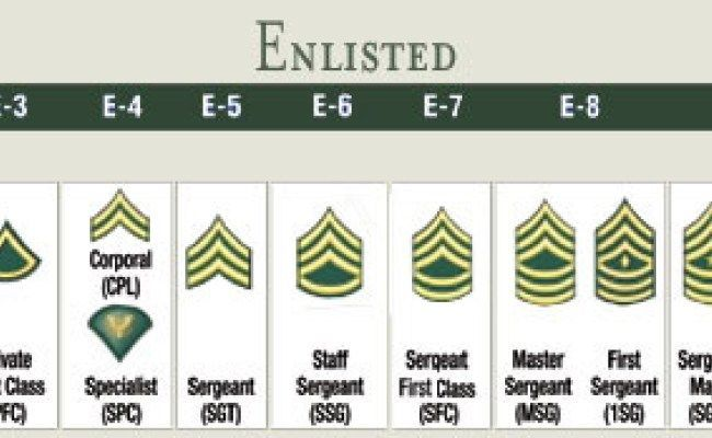 Basic Army Ranks In Order Best 25+ Military rank...