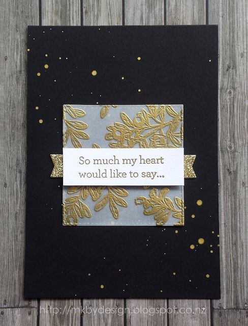 MINIMAL SYMPATHY CARD, VELLUM, BLACK AND GOLD