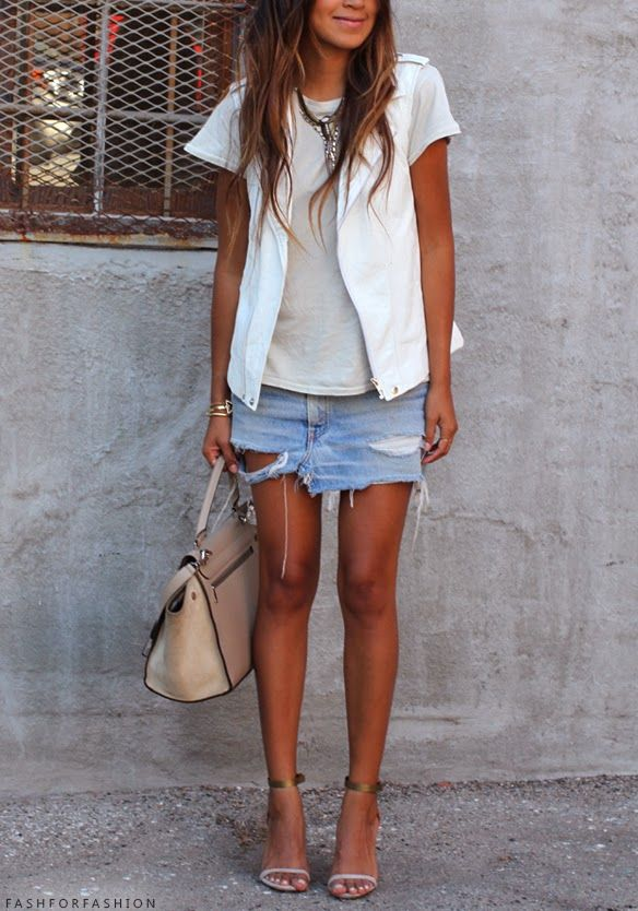 18 best images about Denim ripped skirt on Pinterest | Isabel marant Photo diary and Denim heels