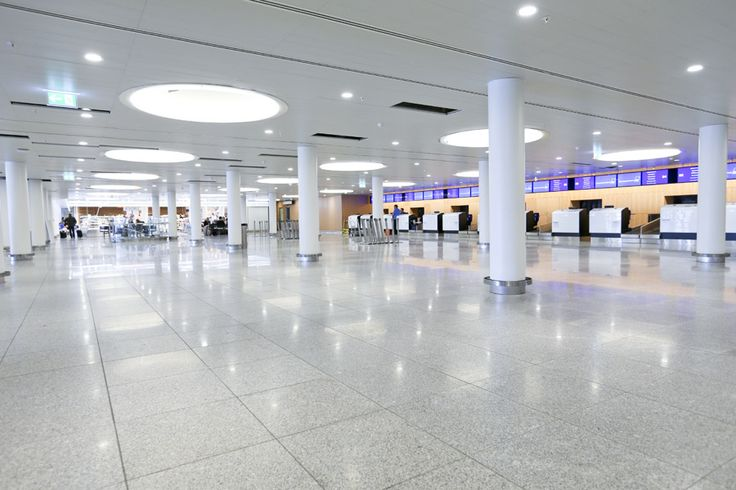 The new check-in area in Terminal 2.