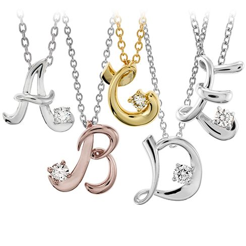 Script Initial Pendant  #MyHOFWeddinglook for the flowergirls