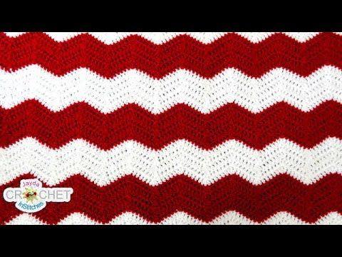 Crochet Chevron, Ripple, Zig Zag, Wave Pattern - YouTube