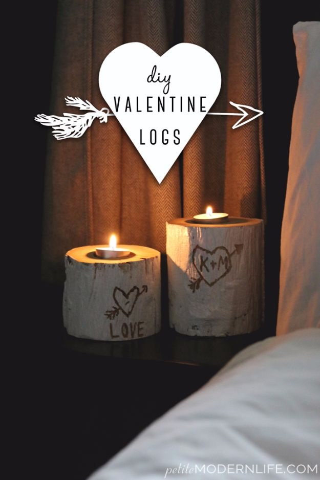 Best DIY Valentines Day Gifts - DIY Valentine Logs - Cute Mason Jar Valentines Day Gifts and Crafts for Him and Her | Boyfriend, Girlfriend, Mom and Dad, Husband or Wife, Friends - Easy DIY Ideas for Valentines Day for Homemade Gift Giving and Room Decor | Creative Home Decor and Craft Projects for Teens, Teenagers, Kids and Adults http://diyjoy.com/diy-valentines-day-gift-ideas
