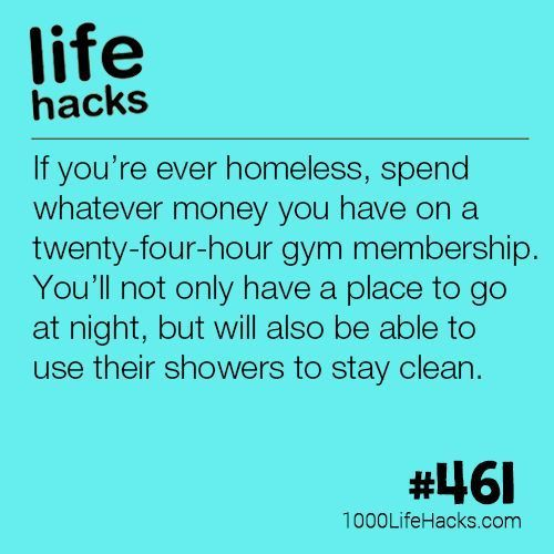DIY Life Hacks & Crafts : If You Ever Find Yourself Homeless