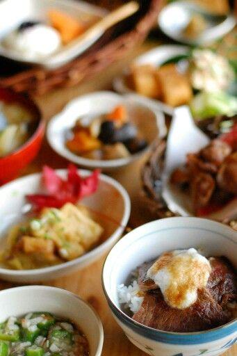 せのもと茶屋 あか牛丼付きせのもと茶屋定食―南小国の食べ物―