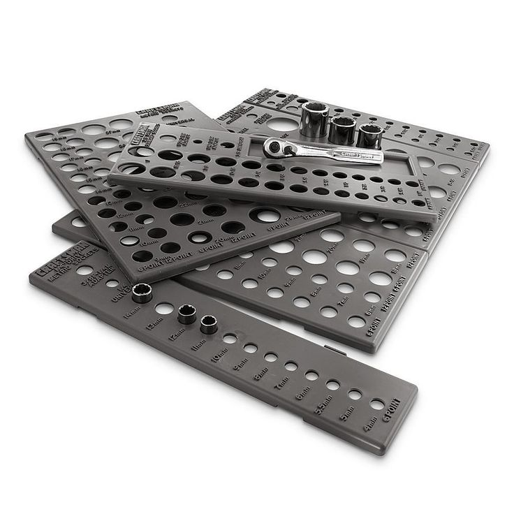 Craftsman Socket Organizer for Tool Drawer, 6 Trays Holds 195 Sockets #Craftsman