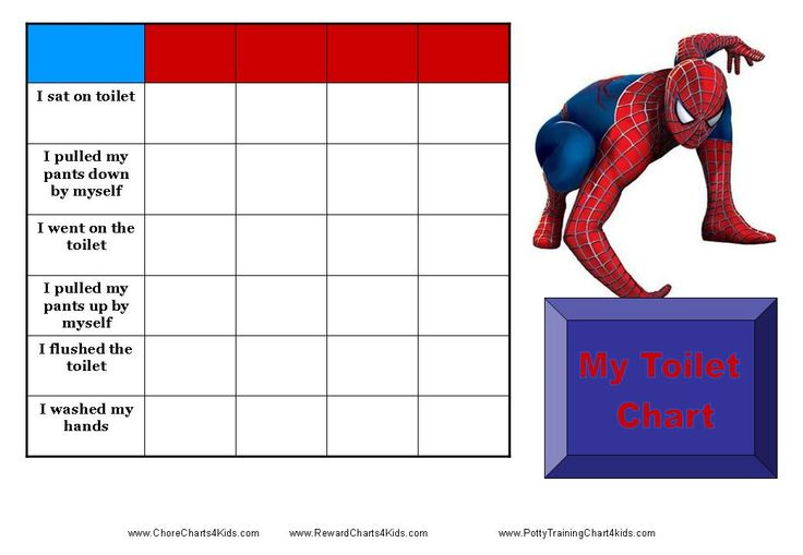 Spiderman Toilet Training Chart Teaching Kids To Use The