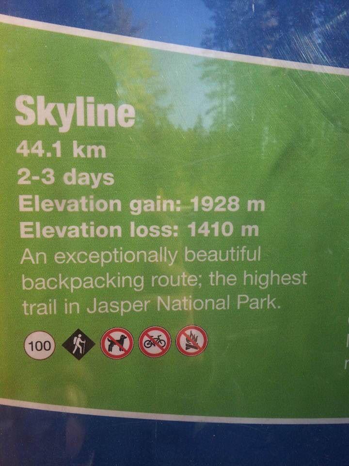 Skyline trail. Jasper, Alberta!