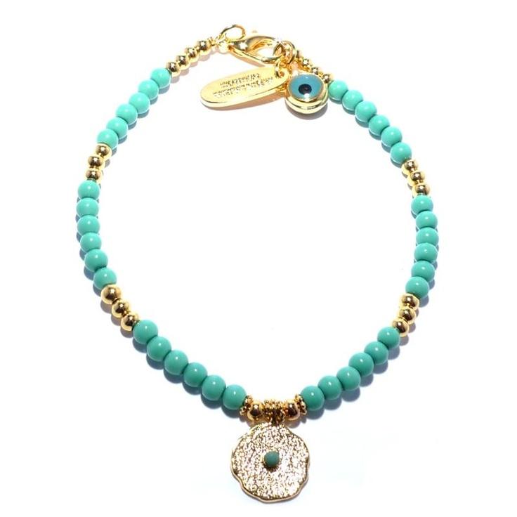 Ashiana Turquoise Gold Plated Bracelet