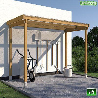 unterstand berdachung f r gartenger te grill brennholz oder fahrr der in garten terrasse. Black Bedroom Furniture Sets. Home Design Ideas