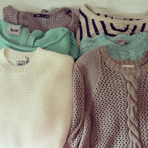 Cozy sweaters ill take them all please!