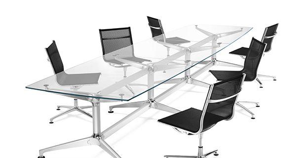La toile Batyline peut être utilisée sur du mobilier de bureau. Effet design et confort garantis ! Tissens.com