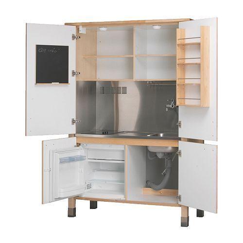 Ikea Varde Complete Mini Kitchen Fridge Hob Sink Compact Kitchen In A Cupboard Ebay