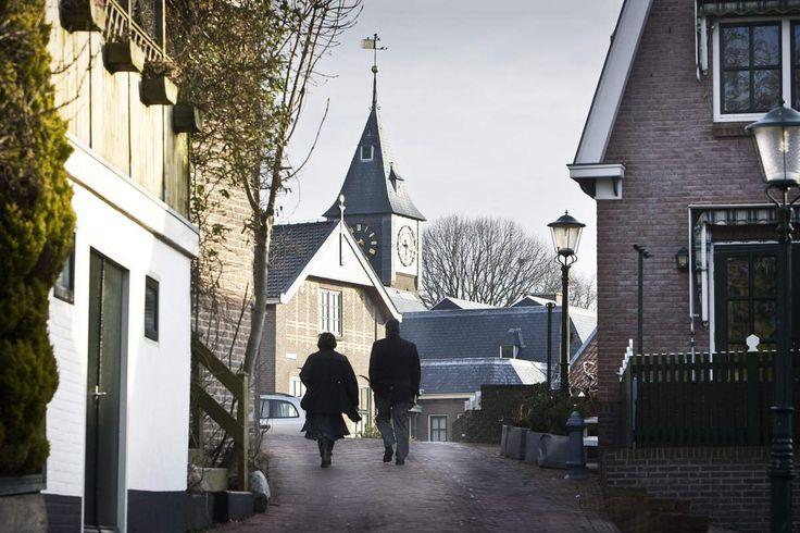 Churchgoers in Urk, Netherlands