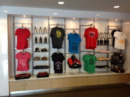 Fitness Center Retail Display Has Formica Plastic Laminate Lower Cabinets With Cambria Quartz
