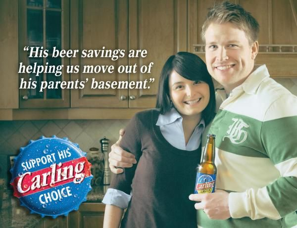 BASEMENT, Molson Carling Beer, Taxi Canada, Carling, Print, Outdoor, Ads