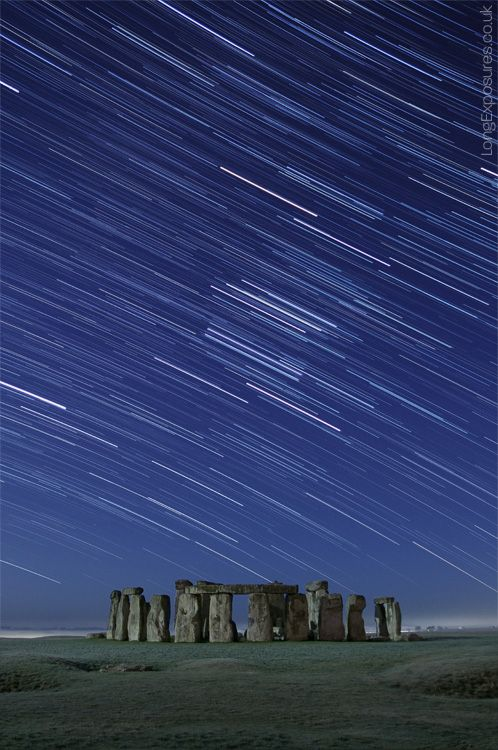 A breathtaking star trail photograph of Stonehenge. Image  by Andrew Whyte.