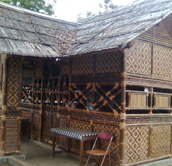 Sundanese house made from bamboo