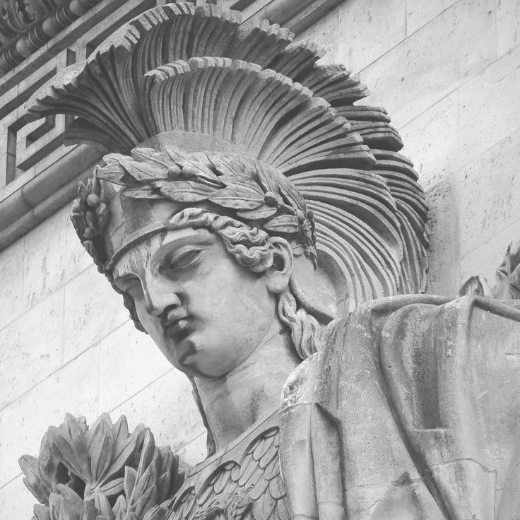 Paris detail from the Arc de Triomphe by Anthony A