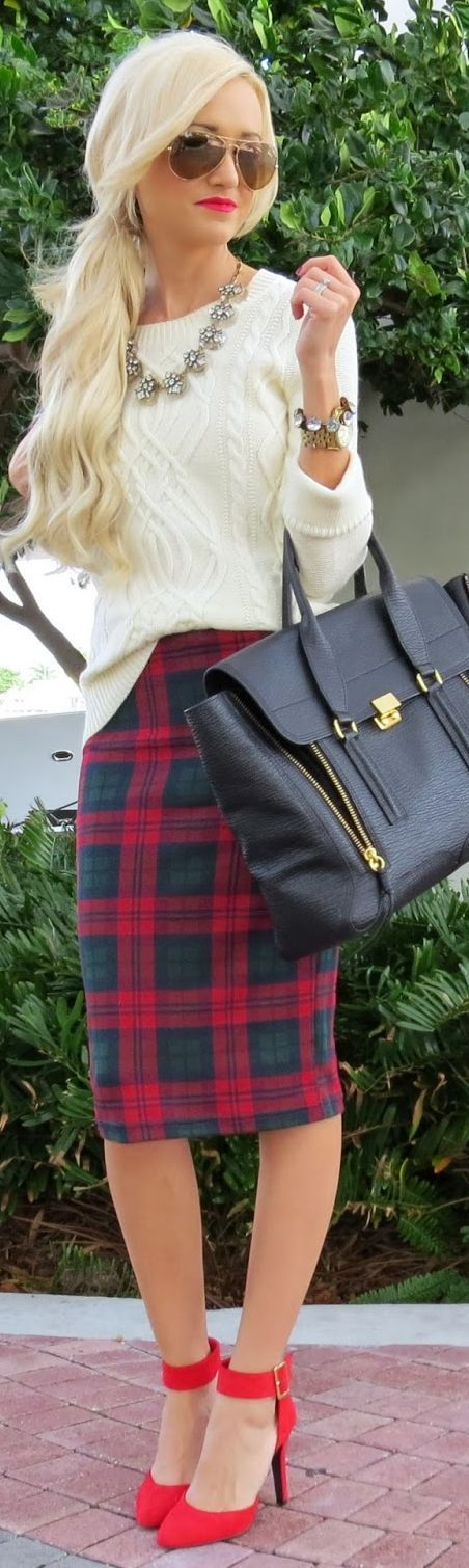 Christmas #Plaid...  by A spoonful of Style => Click to see what she wears
