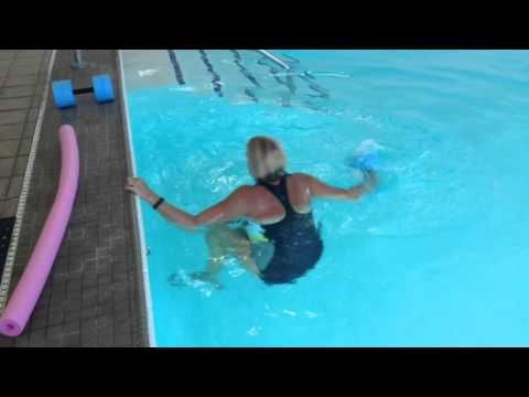 Aqua Wall Core Exercises with Jo - YouTube