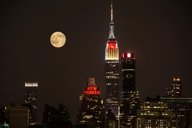 Supermoon Over New York | by pj.mcdonnell