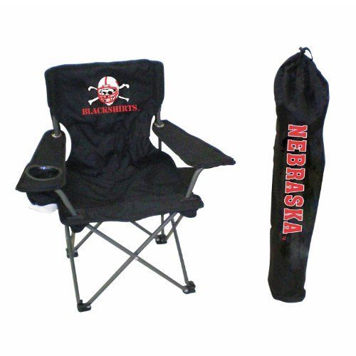 Rivalry NCAA College Team Logo Design Nebraska Junior Tailgate Chair  Blackshirts >>> You can get more details by clicking on the image.