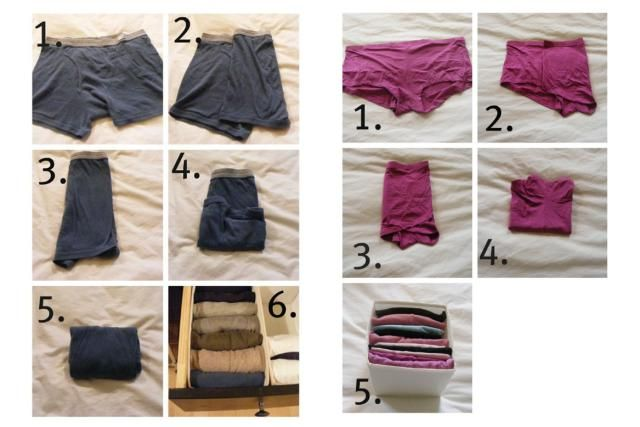 7 Folding Hacks That Save Major Closet and Drawer Space: How to Fold Underwear