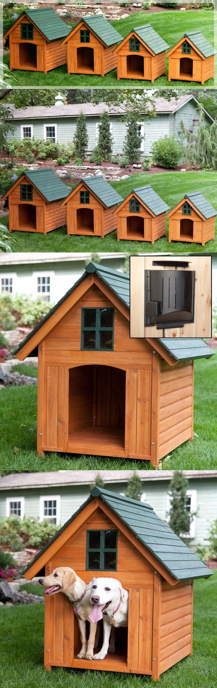 Dog Houses 108884: Heated Dog House Weather Resistant Wood Large Outdoor Pet Shelter Cage Kennel BUY IT NOW ONLY: $369.99