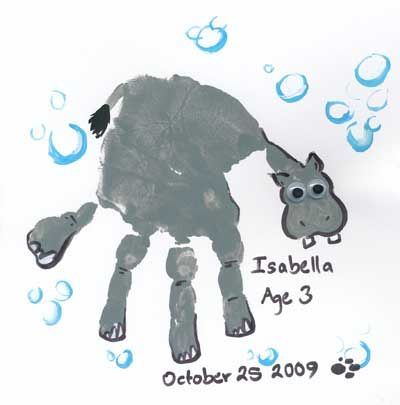 Handprint Hippo on Jason and Lara Show   with directions