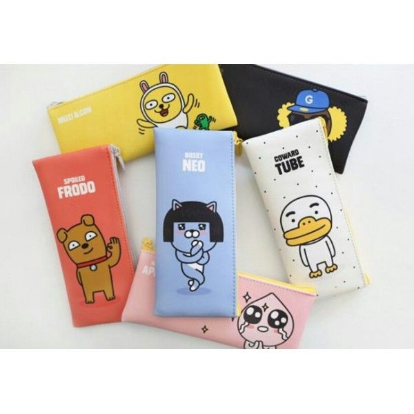 KAKAO FRIENDS - OFFICIAL GOODS : PENCIL CASE MUZI NEO FRODO TUBE APEACH JAY-G