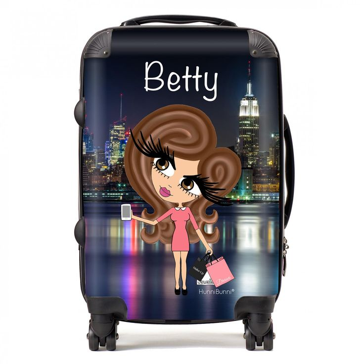 HunniBunni Babes New York Personalised Suitcase