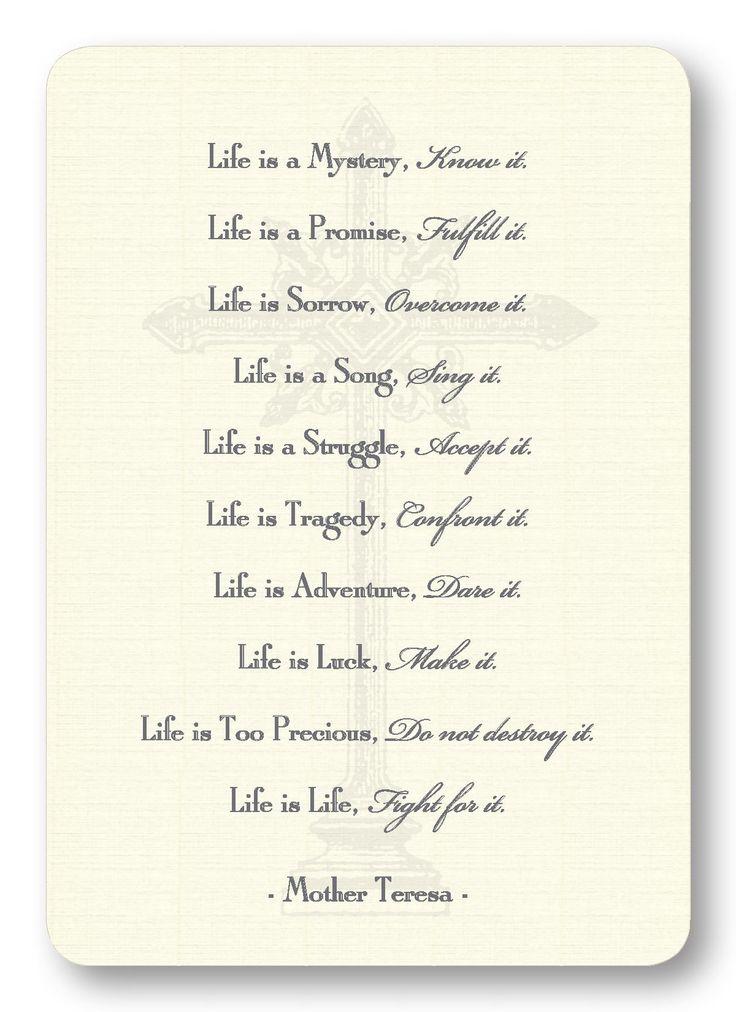 LIFE - Mother Teresa